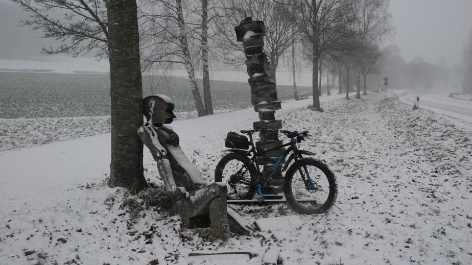 Auf der Suche nach Schnee Richtung Falkenstein – Falkensteinradweg