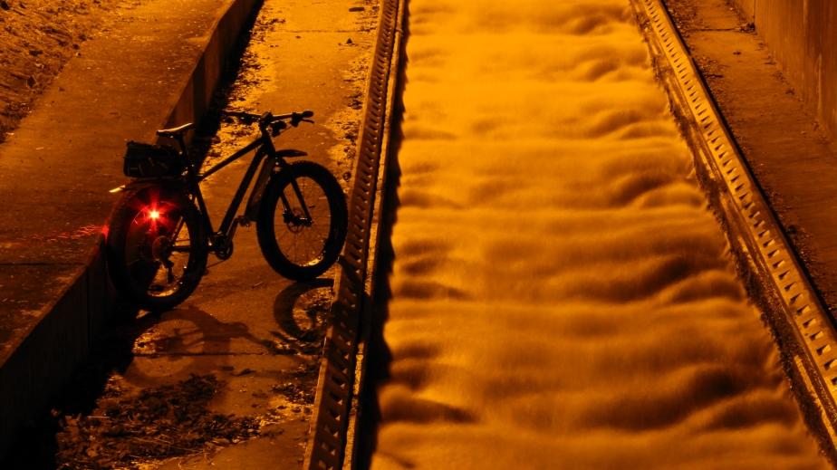 Nachts an der Fischtreppe am PfaffensteinerWehr