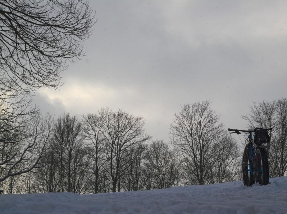 Im Schnee die Mattinger Hänge rauf undrunter