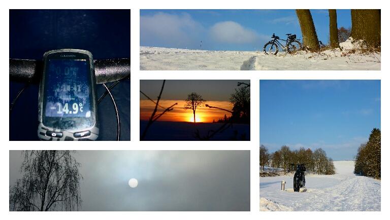 Nebel. Sonne. Schnee. Eis. KlirrendeKälte.