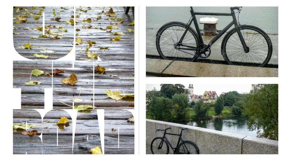 Viktor im Regen, das schönste Fahrrad der Stadt!?