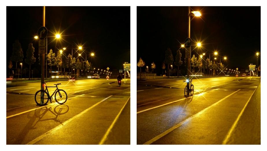 Viktor im Licht der nächtlichen Straße
