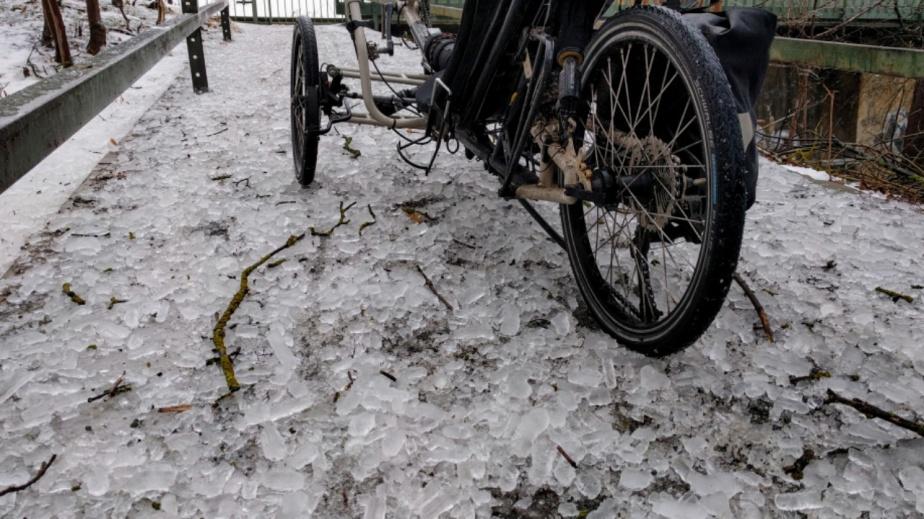 Überall Glatteis …Trikewetter