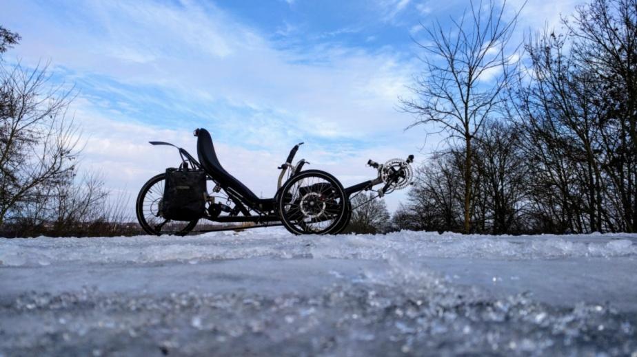 Eisregen, Tauwetter, Wasserpfützen … mit dem dritten Rad geht fast alles